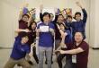 中央が上野さん。与野ルービックキューブサークルメンバーとtribox Open 2019会場にて撮影