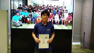 4x4 部門で3 位入賞した上野さん。東海オープン2019 会場にて